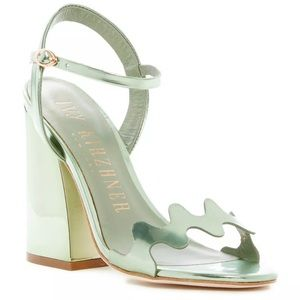 Ivy Kirzhner Scallop-Cut Block-Heel Sandal